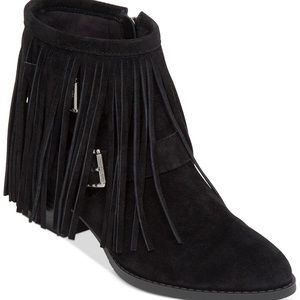 BCBGeneration Capricorn suede fringe booties